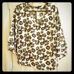 Lane Bryant double bell sleeve top